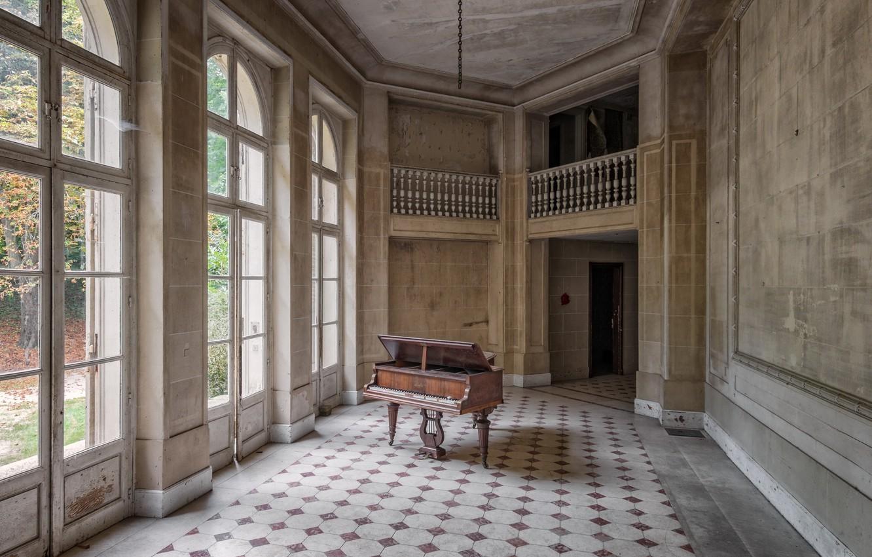 Фото обои дом, зал, пианино