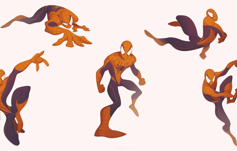 Фото обои Минимализм, Костюм, Marvel, Человек-паук, Comics, Suit, Spider-Man, Peter Parker, Питер Паркер, Minimalism, Марвел, Комиксы, by …