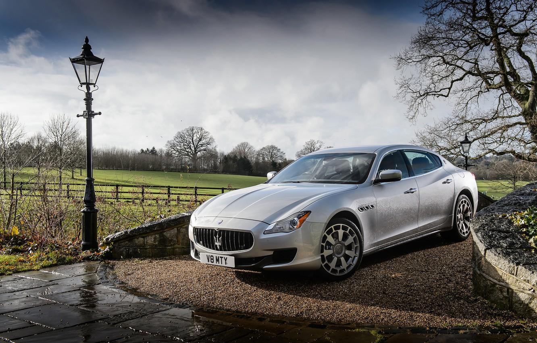Фото обои капли, Maserati, фонарь, Quattroporte S