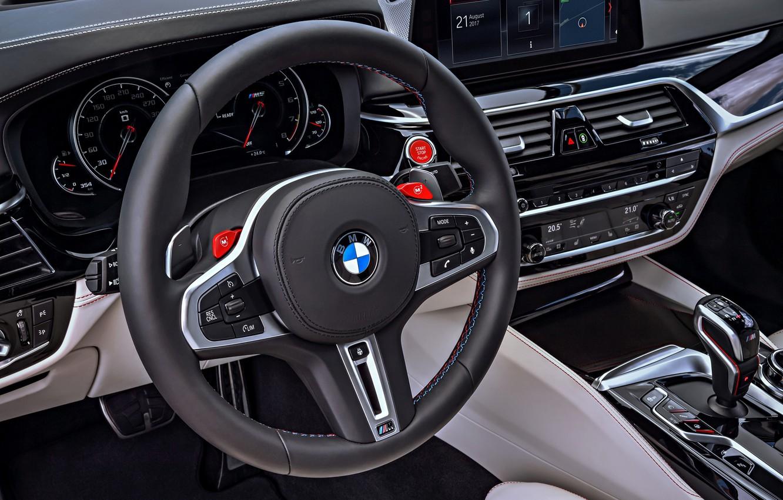 Фото обои приборы, BMW, руль, 2017, M5, F90, M5 First Edition
