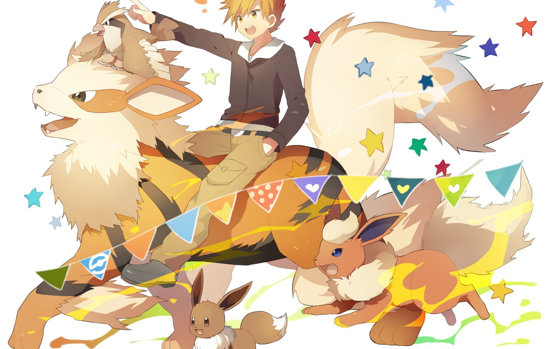 Фото обои мальчик, Покемон, Pokemon, Покемоны
