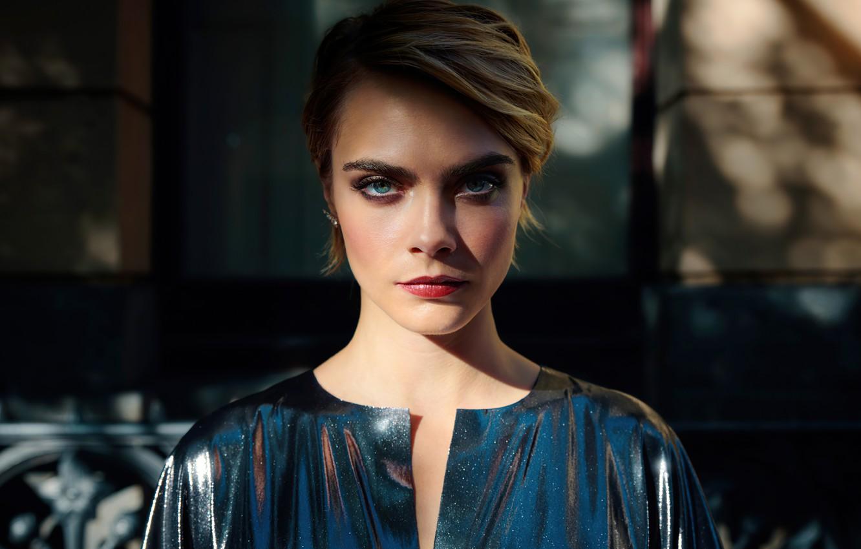 Фото обои eyes, model, look, Cara Delevingne