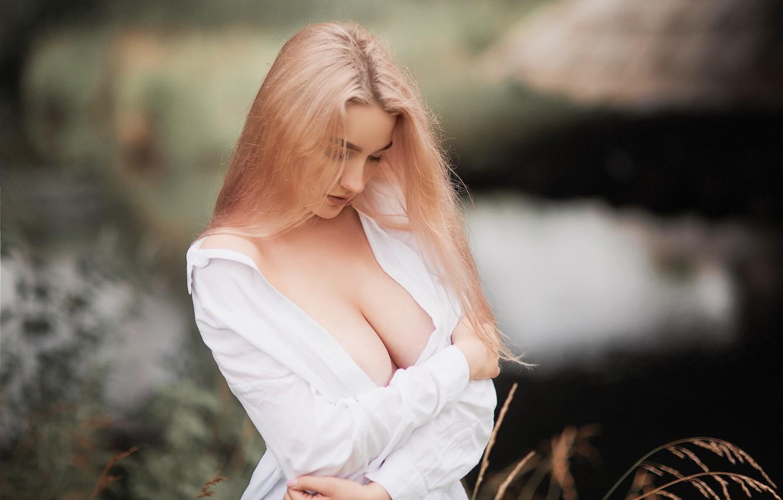 Фото обои грудь, Девушка, Настя, Sergey Yakubitskiy