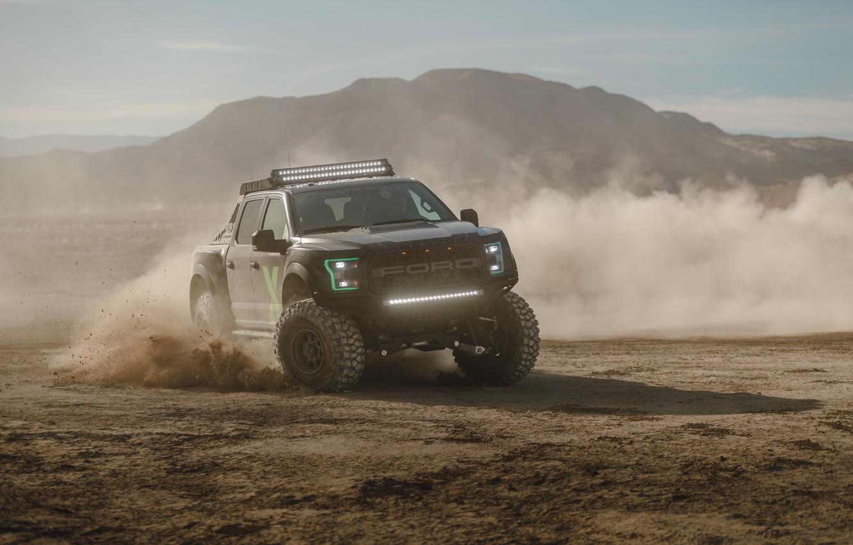 Фото обои Ford, пыль, Raptor, F-150, 2017, Xbox One X Edition