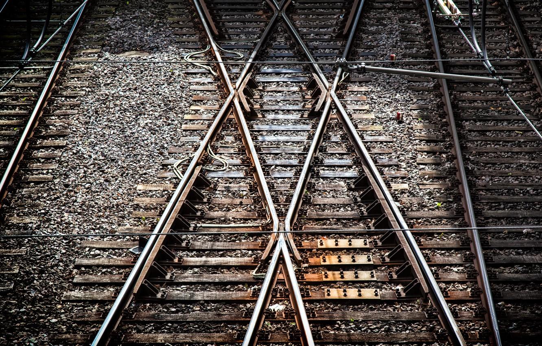Фото обои Essen, tram tracks, x-tracks