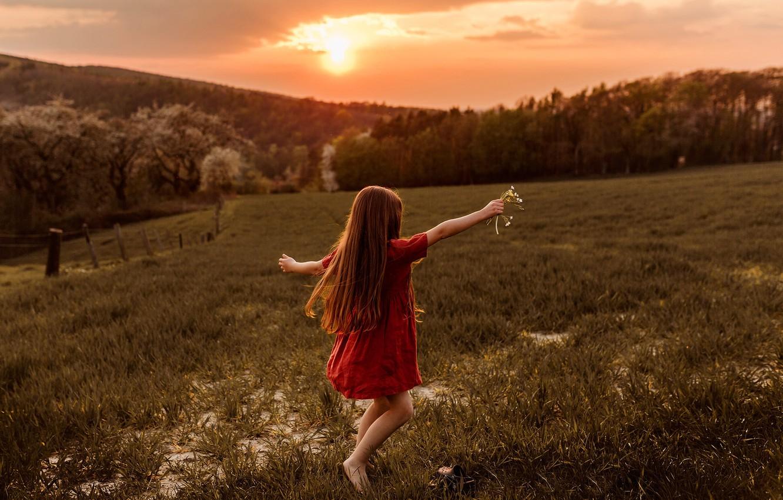 Фото обои свобода, природа, жизнь, мир, девочка
