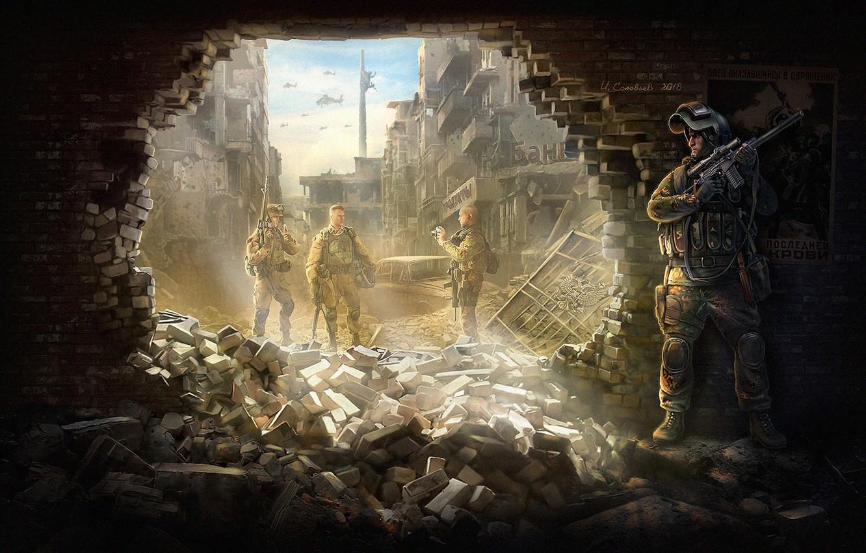 Фото обои москва, арт, россия, soldier, NATO, нато, world war, Igor Solovyev