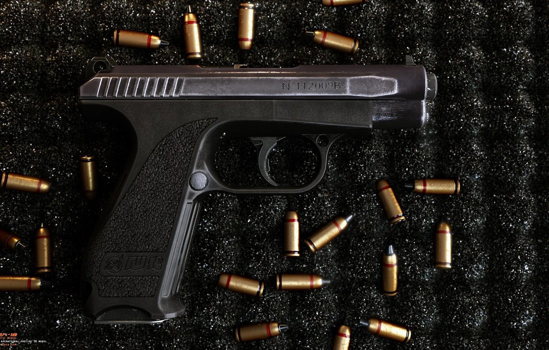 Фото обои пистолет, оружие, gun, pistol, weapon, render, рендер, 3d art, ренденринг, gsh 18, гш 18