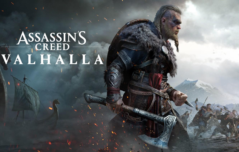 Фото обои игры, axe, топор, воины, games, викинг, ассассины, viking, драккары, eivor, valhalla, assassin's creed valhalla, эйвор