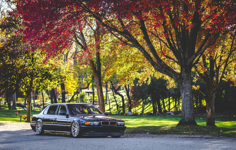Фото обои car, осень, bmw, бмв, autumn, бумер, e38, 7 series, е38