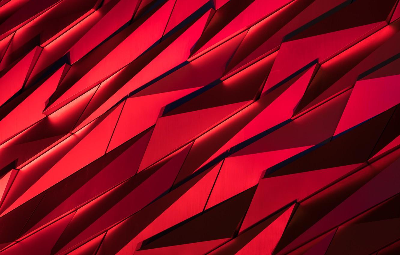 Фото обои осколки, красное, чёрное
