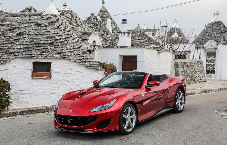 Фото обои Ferrari, кабриолет, Portofino