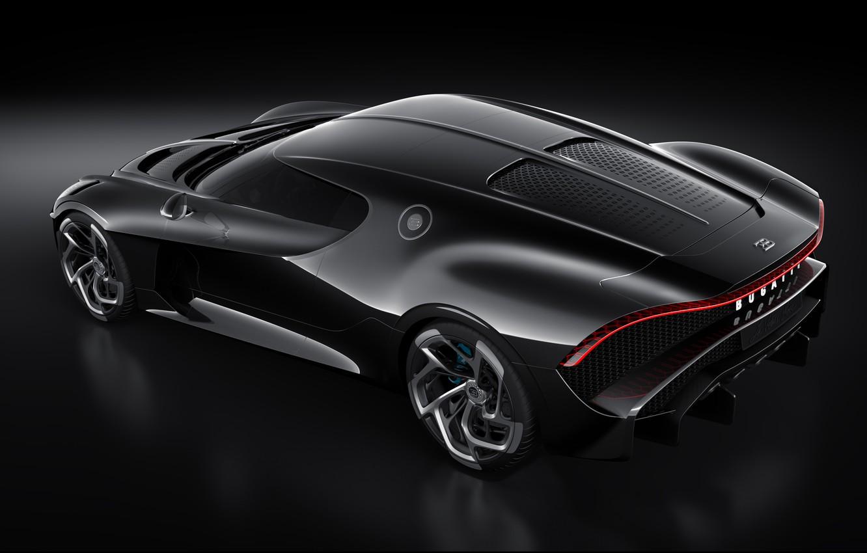 Фото обои машина, Bugatti, фонарь, диски, стильный, гиперкар, La Voiture Noire