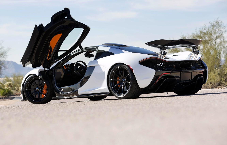 Фото обои McLaren, Макларен, Дверь, Гиперкар, Гибрид, P1