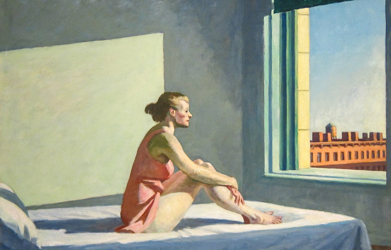 Фото обои Эдвард Хоппер, Morning Sun, 1952