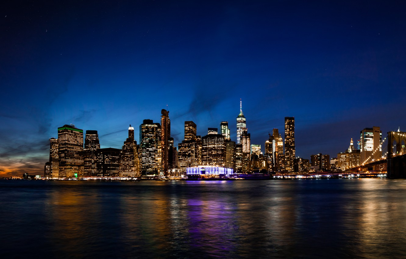 Обои river, сша, new york, manhattan, Nyc, new york city. Города foto 8