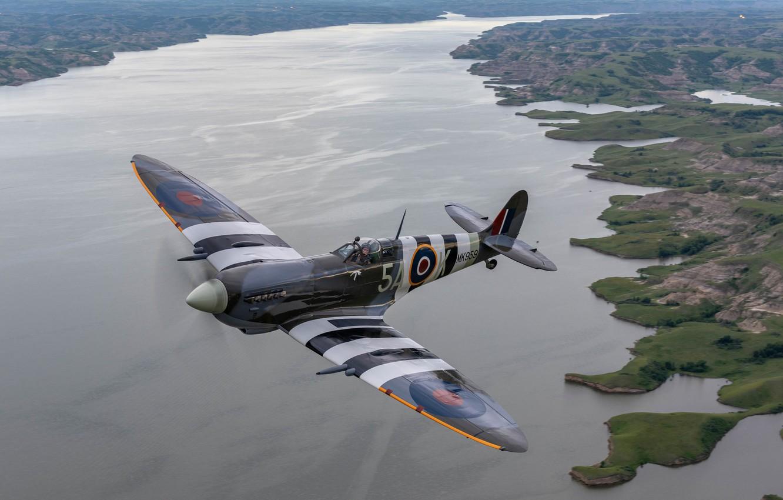 Обои Вторая мировая, истребитель, британский, spitfire, пилоты, рисунок. Авиация foto 11