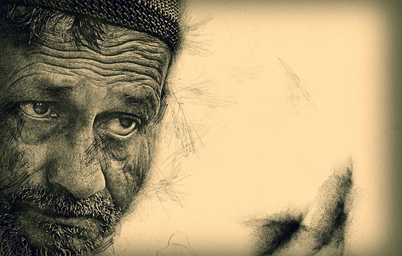 Фото обои лицо, человек, портрет, мужчина, выражение лица, выразительный взгляд, возраст