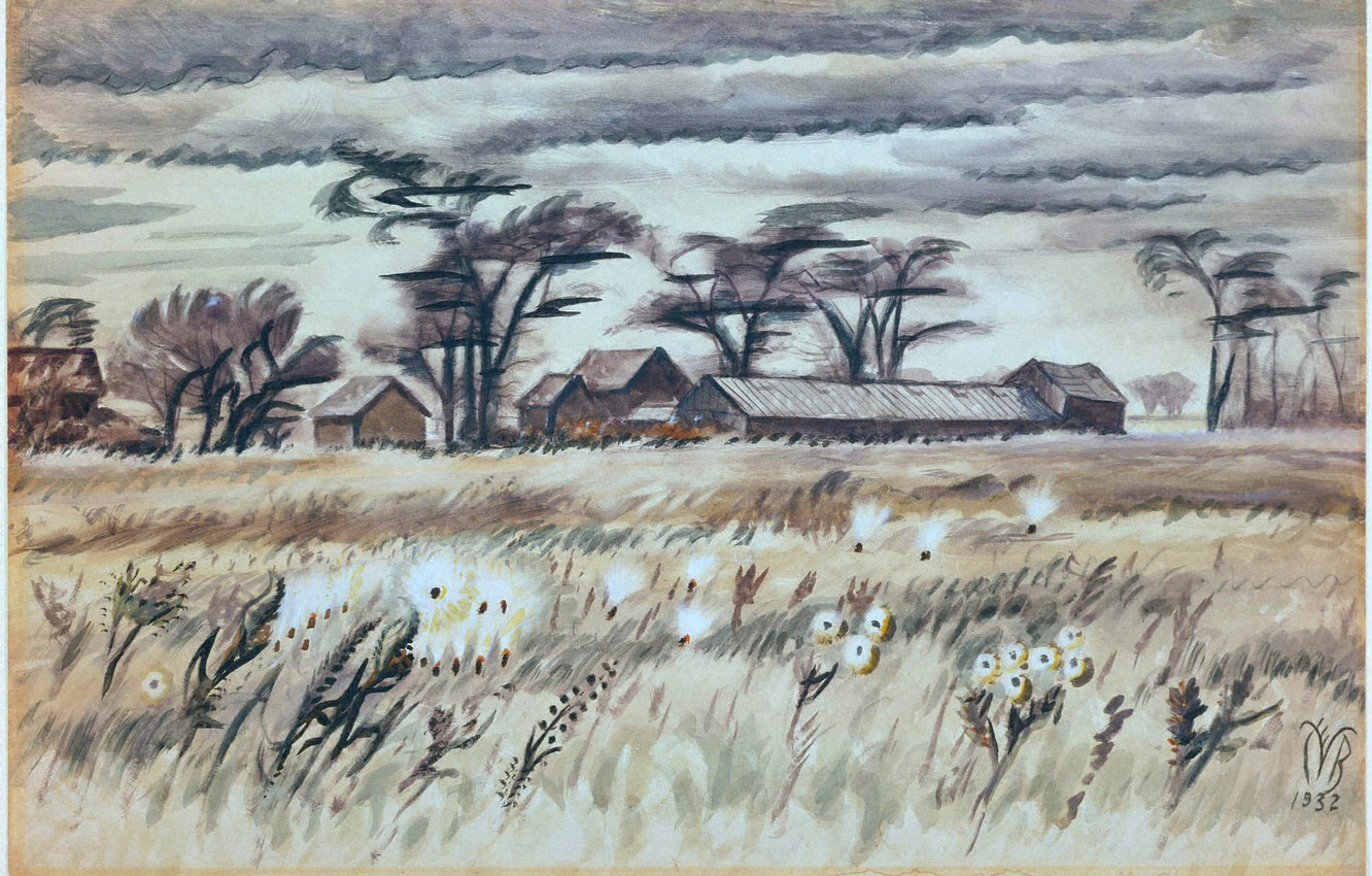 Фото обои 1932, Charles Ephraim Burchfield, December Fields
