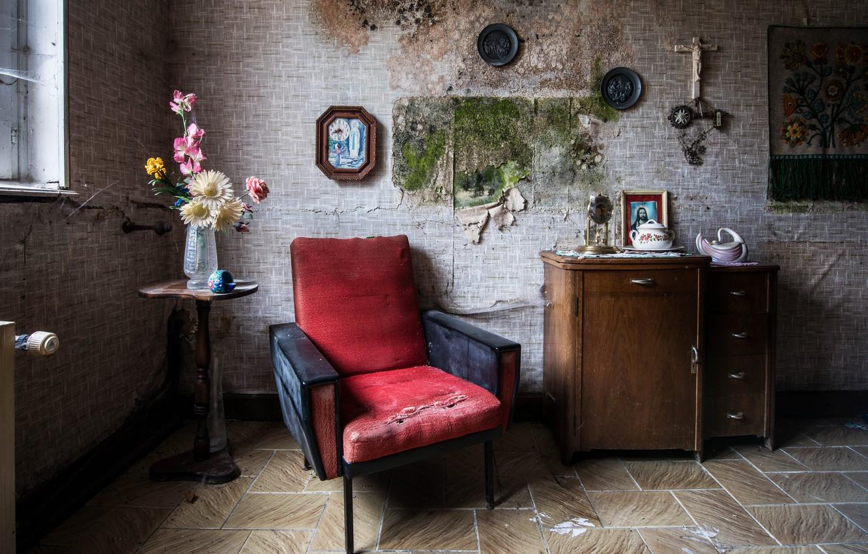 Фото обои комната, мебель, окно, натурализм