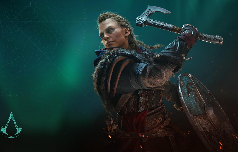 Фото обои игры, axe, топор, воительница, games, викинг, viking, eivor, valhalla, assassin's creed valhalla, эйвор