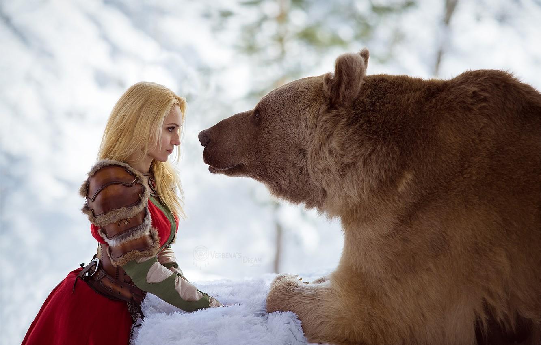 Фото обои снег, фото, медведь, Русь, Даша, мишка зима