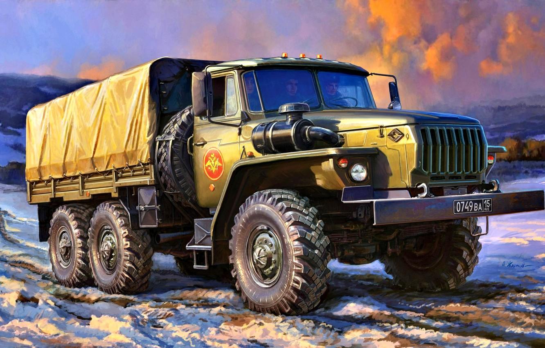 Обои truck, грузовой, повышенной, проходимости, автомобиль. Автомобили foto 7