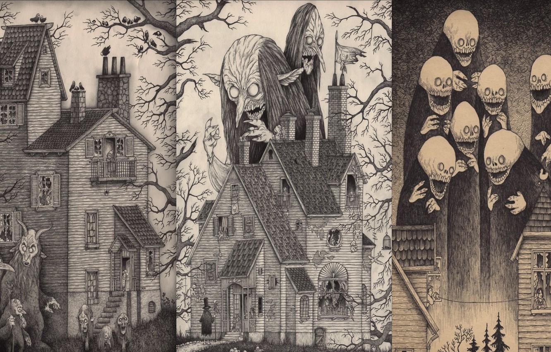 Фото обои horror, art, creepy, johnkenn