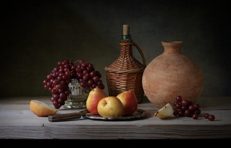Фото обои ягоды, вино, фрукты