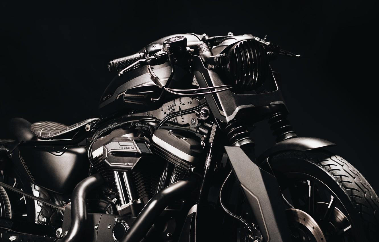 Фото обои Harley Davidson, bike, custom, Sportster 883R, URUS project