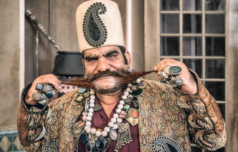 Фото обои Iran, Yazd, Portrait of a man