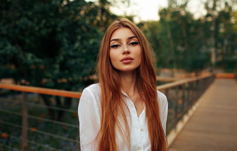 Фото обои Девушка, рыжая, Дмитрий Седых