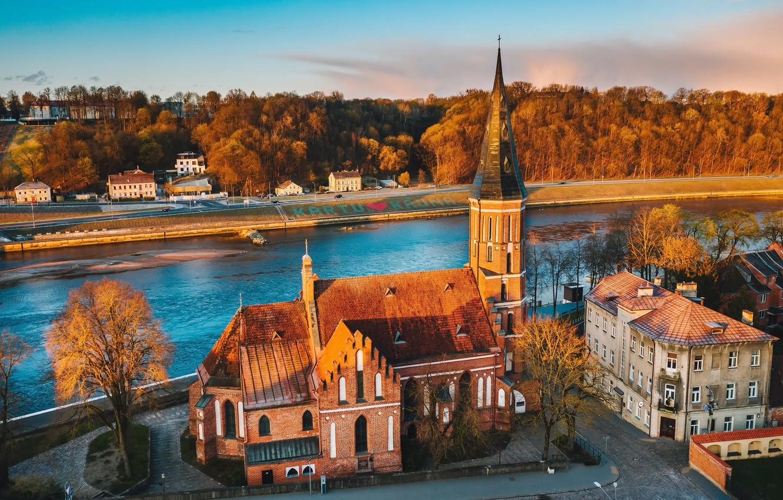 Фото обои Lithuania, Kaunas, Vytautas Church