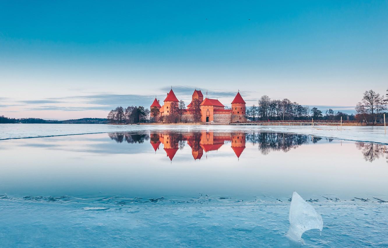 Фото обои замок, Trakai, Lietuva