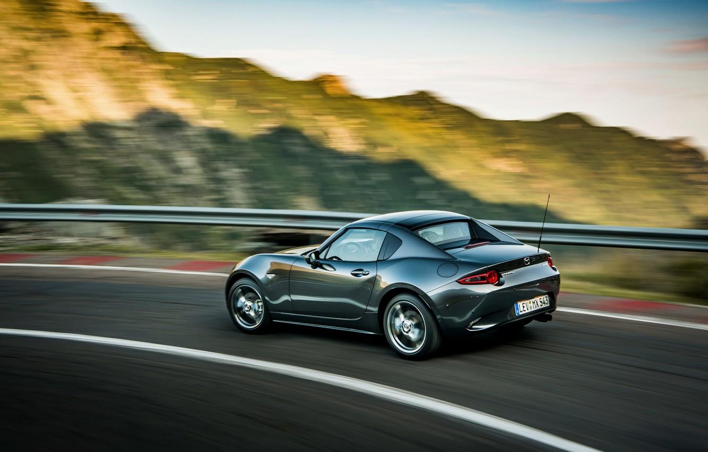 Фото обои Mazda, хребет, тарга, 2019, тёмно-серый, MX-5 RF