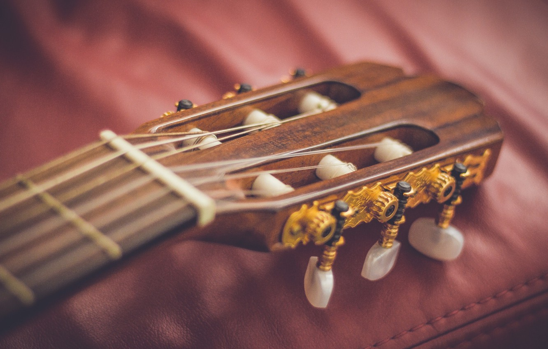 Обои Гитара, струны, гриф, музыкальный инструмент. Музыка foto 19