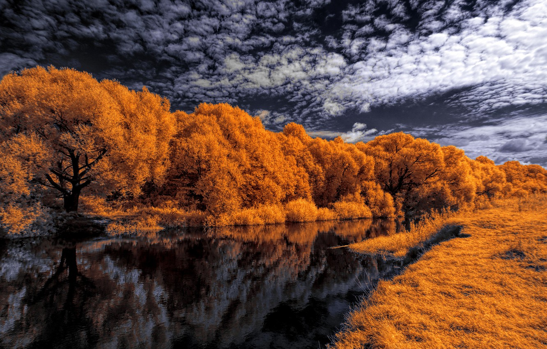Обои Облака, осень. Пейзажи foto 11