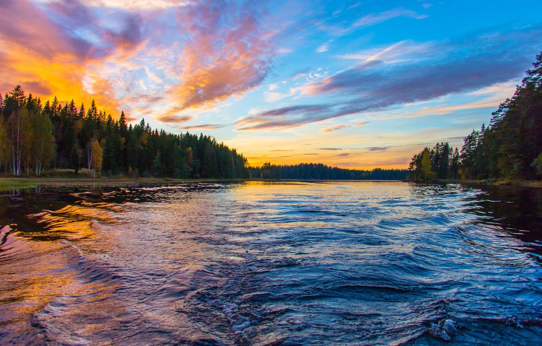 Фото обои лето, свобода, облака, природа, река, красота, вечер, простор, space, summer, river, nature, sunset, берега, freedom, …