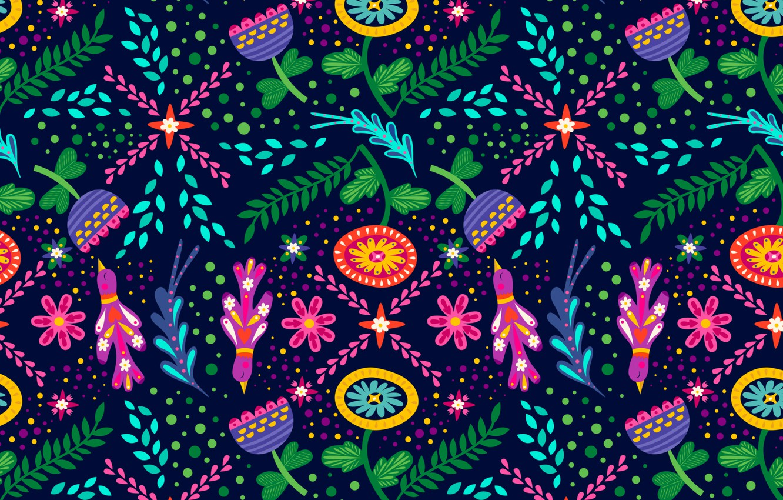 Фото обои цветы, птицы, фон, графика, текстура, digital art, флора