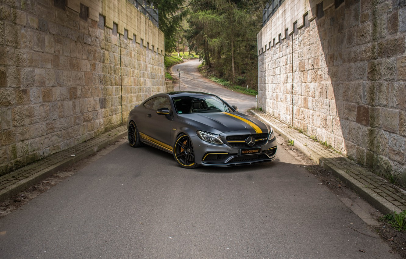 Фото обои Mercedes-Benz, AMG, C63, Manhart, Edition 1, 2017, C205, CR 700