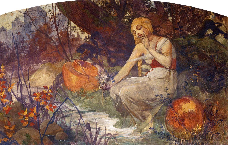 Фото обои 1896, Альфонс Муха, Славянский эпос, Пророчица