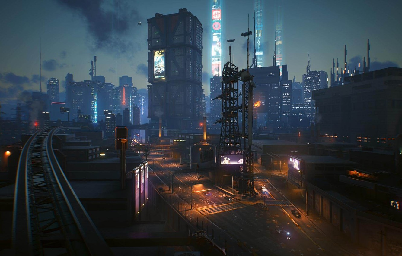 Фото обои rpg, video game, night city, CD Projekt RED, Cyberpunk 2077