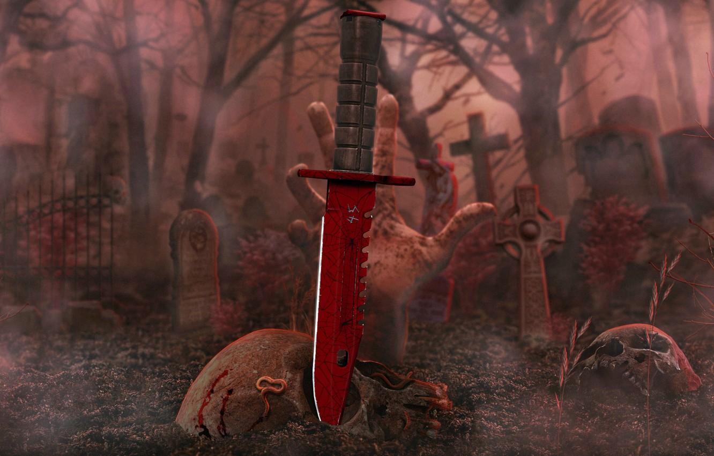 Фото обои counter strike global offensive, cs go, slaughter, m9 bayonet, crimson web