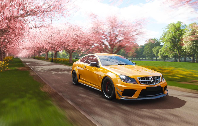 Фото обои Mercedes-Benz, Microsoft, game, AMG, Coupe, 2018, C63, Forza Horizon 4