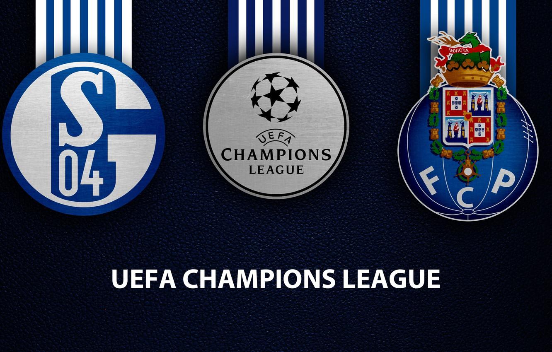 Фото обои wallpaper, sport, logo, football, Schalke 04, UEFA Champions League, Porto, Schalke 04 vs Porto