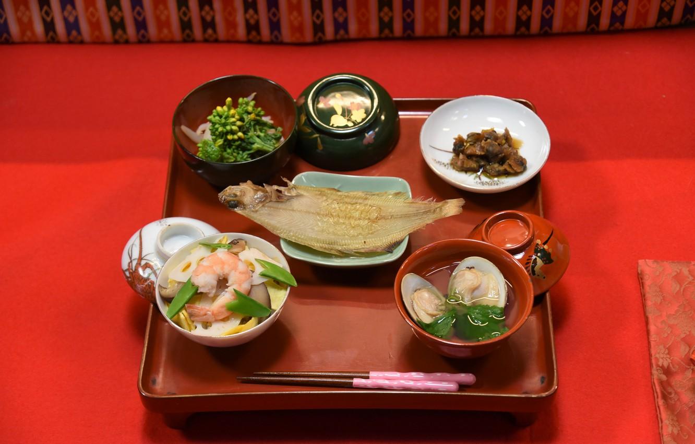 Фото обои морепродукты, японская кухня, сервировка