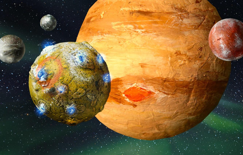 Фото обои art, planets, sci fi