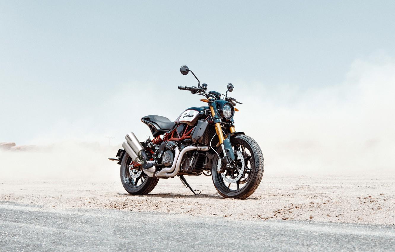 Фото обои road, desert, indian, motocycle, indian ftr1200