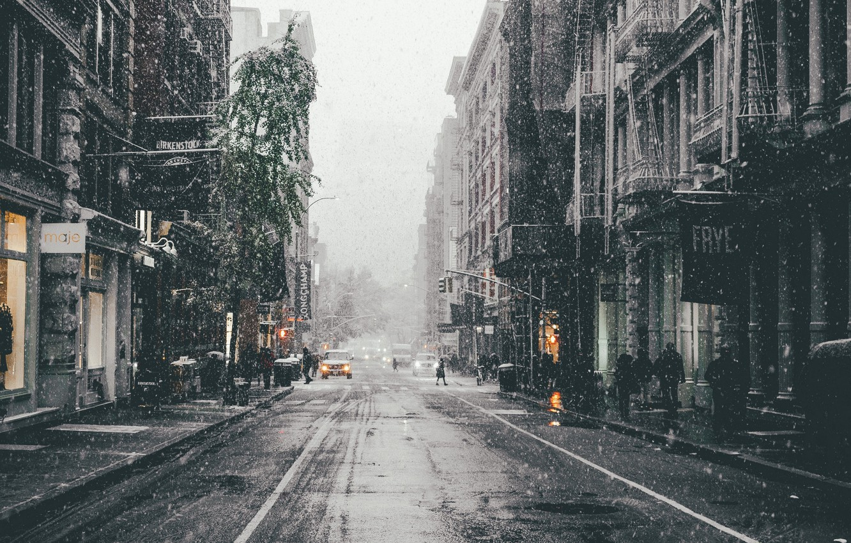 Обои snow, winter. Города foto 6