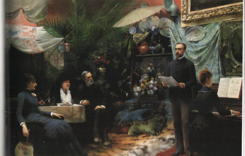 Фото обои праздник, 1885, abbema's, afternoon song